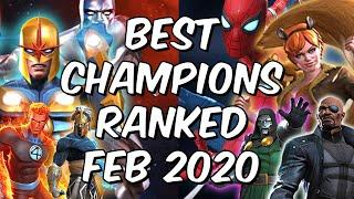 Best Champions Ranked February 2020 - Seatin's Tier List - Marvel Contest of Champions