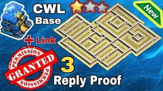 (TH12 CWL) New Th12 CWL Base 2020 | TH12 New War Base With Link | Impossible 3 Star | 3 Replay Proof