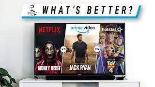 HotStar vs Netflix vs Amazon Prime - What's the Best Streaming Option?