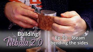 Make a Modern Multi-Scale Guitar - Ep 10 HAND Steam Bending the Acoustic-style Sides Tutorial