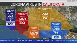 The Latest: Coronavirus Cases In Orange County Top 1,000