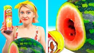 LIFEHACKS WITH FRUITS | Watermelon and Banana Tricks by Ideas 4 Fun