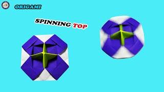 Origami Spinning Top - How To Make Origami Spinning Paper - DIY