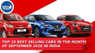 Top 10 Best Selling Cars In The Month Of September 2020 In India