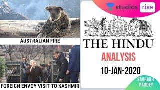 10-Jan-2020 | Daily Current Affairs | The Hindu Analysis | UPSC CSE 2020/2021/2022 | Saurabh Pandey