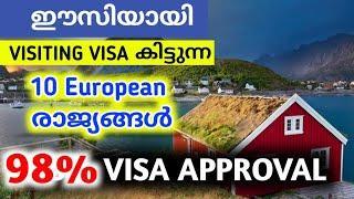 ഈസിയായി യൂറോപ്പിൽ VISIT VISA കിട്ടുന്ന 10 രാജ്യങ്ങൾ top 10 easiest countries to get schengen visa