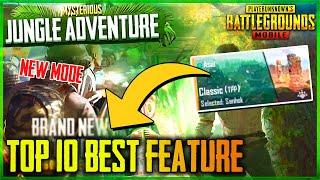 JUNGLE ADVENTURE MODE | TOP 10 NEW FEATURES AND POWERS - PUBG MOBILE