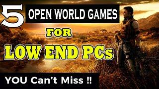 Top 5 Open World Games For 2GB RAM Low End PC   Best Open World Games 2020   Low End PC Games