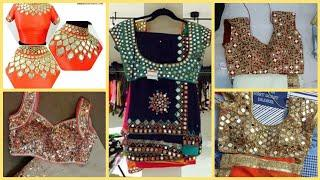 Top 50 Saree Blouse Designs With Mirror And Hand Work