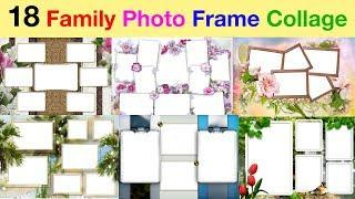 Family photo frame collage on frame photos in PSD, PNG } High Quality, 300 DPI, free downloads