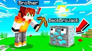 7 Ways to PRANK My Little Brother in Minecraft!