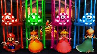 Mario Party The Top 100 MiniGames - Mario Vs Rosalina Vs Daisy Vs Peach (Master Cpu)