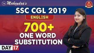 700+ One Word Substitution   English   By Yashi Mahendras   SSC CGL 2019   10:30 am