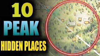 Peak Hidden Place In Free Fire || Top 10 Hide Place In Bermunda Map - Rank Push Tips