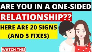 Painful Signs That Could Mean You're In A One-Sided Relationship | Signs Of A One-sided Relationship