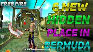 TOP 6 NEW HIDDEN PLACE IN FREE FIRE IN BERMUDA 2021 RANK PUSH TIPS AND TRICKS IN FREE FIRE 2021