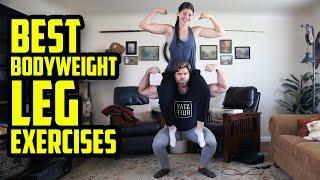 18 BEST BODYWEIGHT LEG EXERCISES!