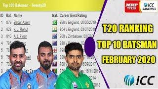ICC Latest T20 Ranking 2020 | ICC T20 Ranking 2020 Updated | Top 10 Batsman | Babar Azam No 1, Rahul