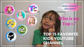 Kids YouTube Channel Review || Brianna's top 15 favorite known channel