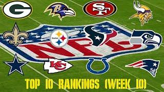 NFL Top 10 Team Rankings (Week 10)