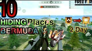Top 10 Hiding Place In Bermuda Map Free Fire || How To Rank Push In Free Fire