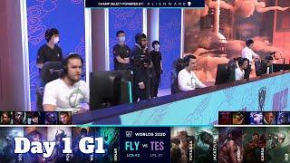 FLY vs TES | Day 1 Group D S10 LoL Worlds 2020 | FlyQuest vs Top Esports Groups full game
