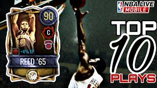 90 Overall Willis REED '65 Top 10 PLAYS! | Time Vault Rookie of the Year Player | NBA Live Mobile