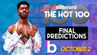 Final Predictions! Billboard Hot 100 Top Singles This Week  (October 2nd, 2021)