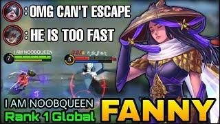 Fast Cable Control Fanny, You Can't Escape Me! - Top 1 Global Fanny I AM NOOBQUEEN  - Mobile Legends