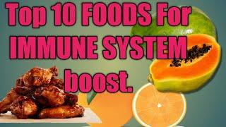 Top 10 FOODS THAT BOOST IMMUNE SYSTEM BODY WITH BEAUTIFUL FRUIT IMAGES.