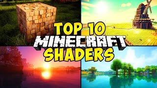 """""""TOP 10 MINECRAFT SHADERS"""" (For Low End PC, Minecraft 1.15, Shaders PC, Realistic, Minecraft 1.14.4)"""