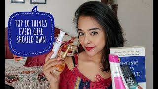 TOP 10 THINGS EVERY GIRL (OR PERSON) MUST OWN!! | RIDE OR DIE ITEMS | MISS BANERJEE