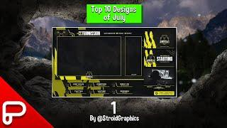 Top 10 designs for the month of July!