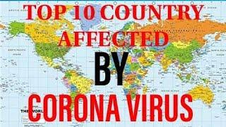 Top10 country affected by Corona virus.