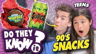 Do Teens Know 90's Snacks? (Surge, Dunkaroos)