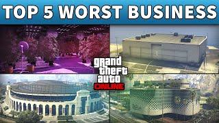 Top 5 Worst Businesses To Buy And Invest Money in GTA Online