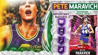 PINK DIAMOND PETE MARAVICH GAMEPLAY! THE BEST THREE POINT GREEN MACHINE! NBA 2k20 MyTEAM