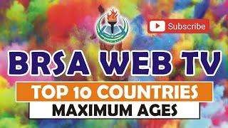 Top 10 Countries  Maximum Ages Male and Female