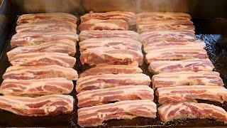 1인분에 2,800원짜리 철판 삼겹살 / grilled pork belly - korean BBQ / korean street food