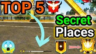 Top 5 New Secret/Hidden Places In Free Fire | Peak Hidden Place In Free Fire After Update