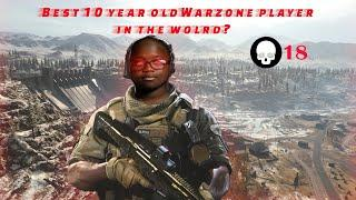 Best 10 Year Old Warzone Player In the World? 60 + Wins!!