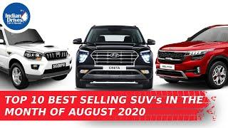 Top 10 Best Selling SUVs In The Month Of August 2020 In India