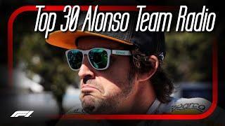 Top 30 Fernando Alonso Team Radio (4K) | McLaren 2015-18