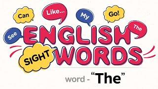 """Sight Word """"The""""    Vocabulary Words   Beginner readers   Easy Sight word Sentences   Basic English"""