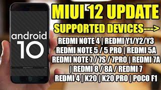 MIUI 12 SUPPORTED DEVICES NAME 30 + DEVICE NAME | MIUI 12 UPDATE | FEATURES