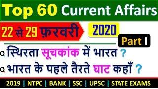 Online study point Current Affairs February 2020   60 Important Weekly Current Affairs MCQ
