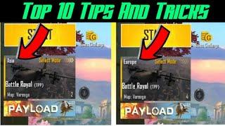 How to change server in Pubg Lite || Top 10 Tips And Tricks In Pubg Lite || Weapon X Gamer