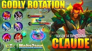 Fast Farm?! Out of Control?! Perfect Timing?! | ʙTᴋ | MobaZane Top 1 Global Claude Season 14 ~ MLBB