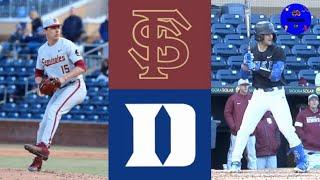 #14 Florida State vs #12 Duke (Game 1) | 2020 College Baseball Highlights