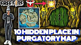 Freefire Top 10 Hidden Places in Purgatory || Rank Push Secret Place in FreeFire ||